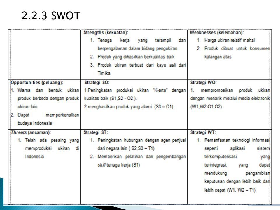 2.2.3 SWOT