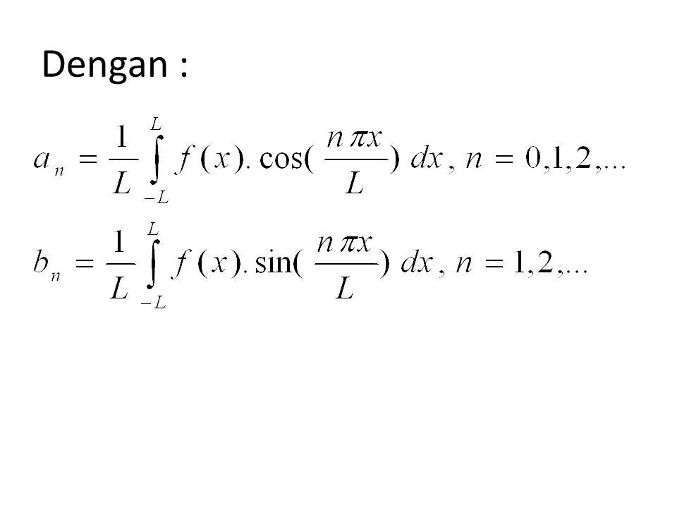 Konvergen ke (a)f(x) bila x titik kontinu; (b) bila x titik diskontinu. Dalam hal ini,