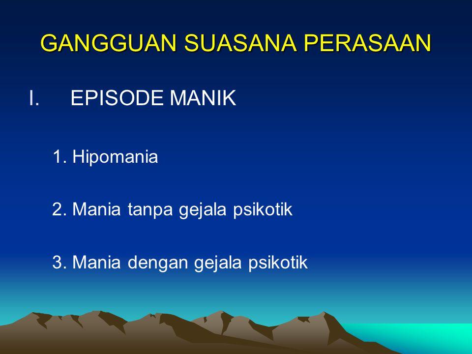 GANGGUAN SUASANA PERASAAN ( A F E K T I F ) OLEH : Dr. Hubertus Kasan Hidayat,Sp.KJ. SEMINAR PROFESIONAL