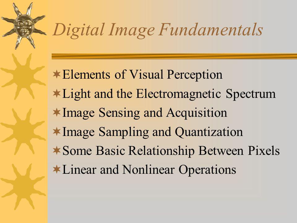 Image Sampling and Quantization  Tujuan : Untuk mengubah data image yang kontinu dari alat penangkap citra menjadi citra dalam bentuk digitalnya.
