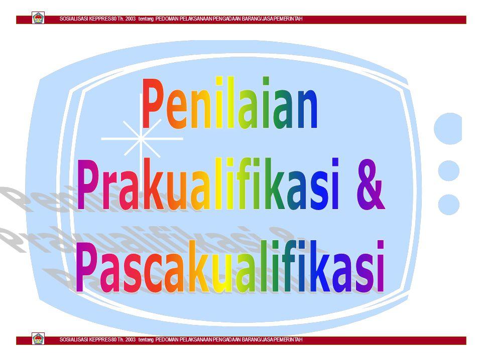 PRAKUALIFIKASI & PASCAKUALIFIKASI KEPPRES 80 TH.