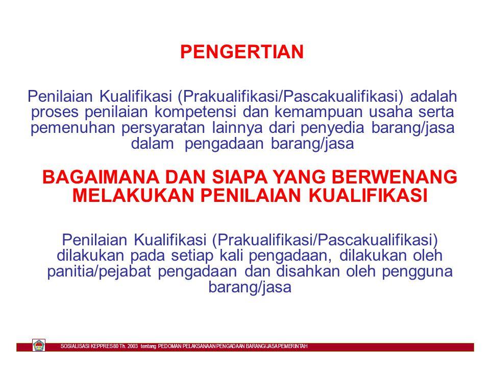 PERSYARATAN PENYEDIA BARANG/JASA d.secara hukum mempunyai kapasitas menandatangani kontrak e.