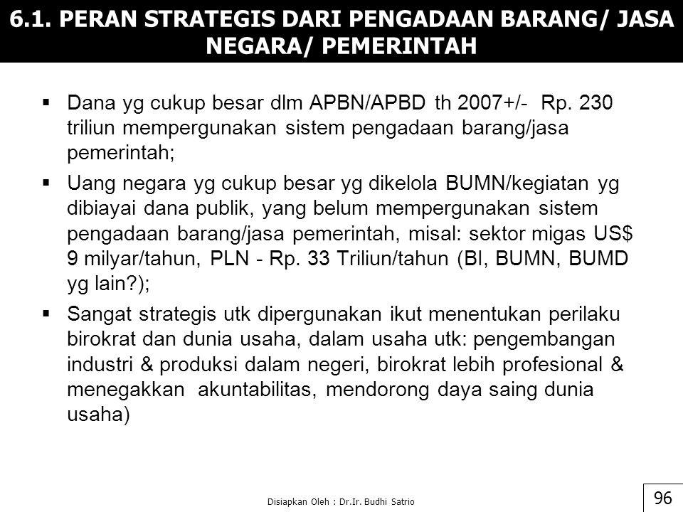  Dana yg cukup besar dlm APBN/APBD th 2007+/- Rp.
