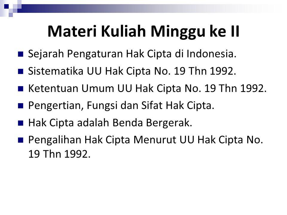 Hak Cipta di Indonesia Contoh kesepakatan bilateral mengenai perlindungan Hak Cipta: Eropa  Keppres No.