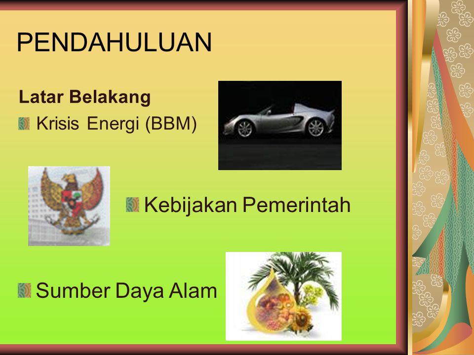 KRISIS ENERGI TAHUN200220032004 KEBUTUHAN BBM IMPOR 106,9 JB116,2 JB154,4 JB SOLAR IMPOR60,6 JB61,1 JB77,6 JB PERSENTASE56,7 %52,6 %50,26 % TahunCadangan minyak bumi Indonesia (miliar barrel) 199211,30 199310,4 19949,5 20019,75 (www.pertamina.com)www.pertamina.com