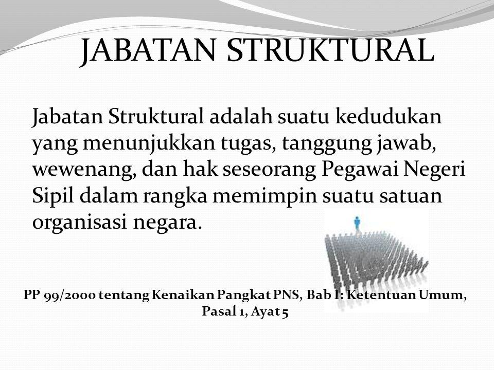 KENAIKAN PANGKAT PILIHAN DIBERIKAN KEPADA PEGAWAI NEGERI SIPIL YANG: a. menduduki jabatan struktural atau jabatan fungsional tertentu; PP 99/2000 tent