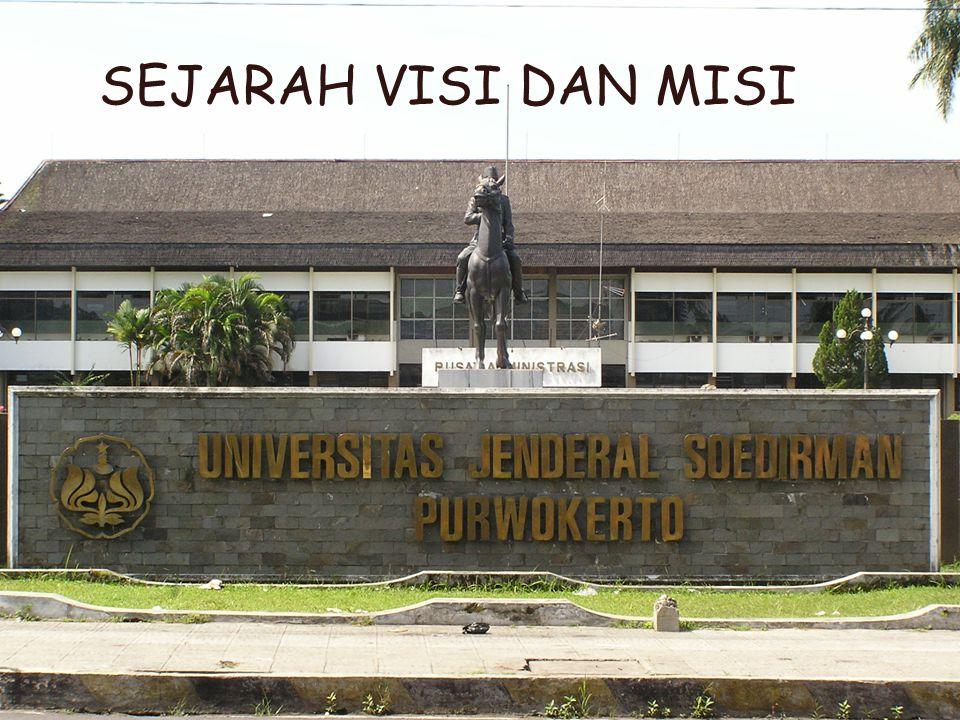 21 MISI Universitas Jenderal Soedirman Menyelenggarakan pendidikan guna menghasilkan lulusan yang bermoral, memiliki sikap akademik dan professional, keunggulan kompetitif, kemampuan kepemimpinan yang memadai, kemampuan memecahkan masalah dan kemampuan beradaptasi.