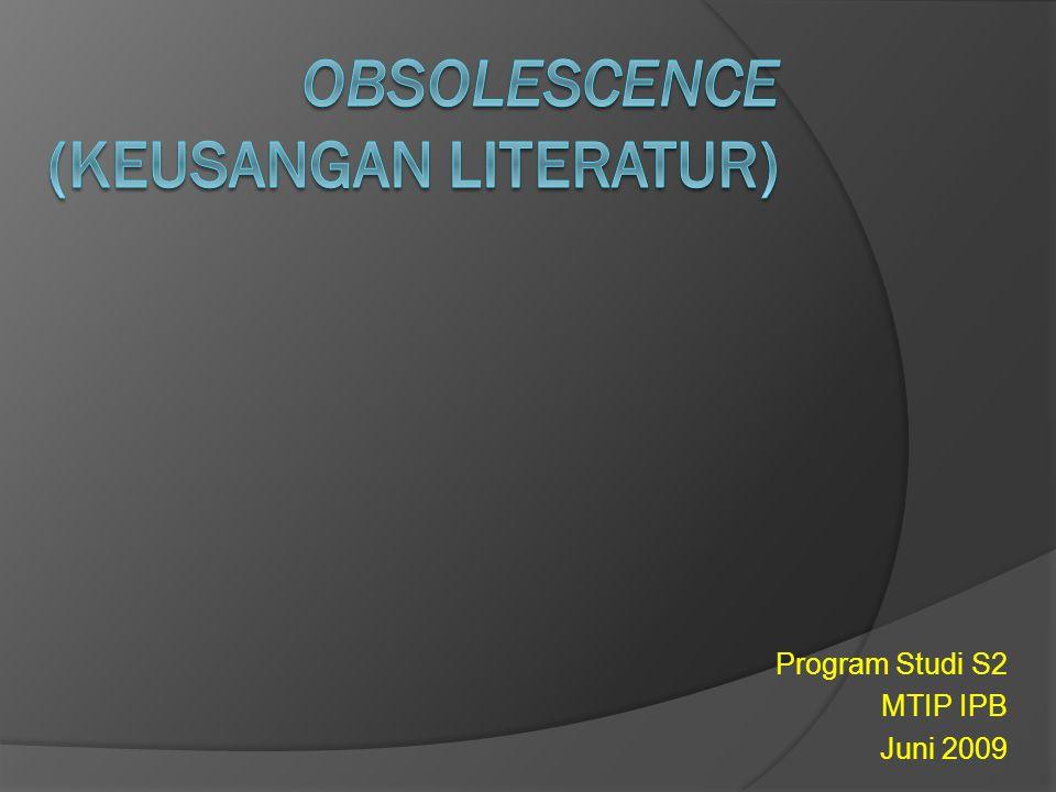 Program Studi S2 MTIP IPB Juni 2009