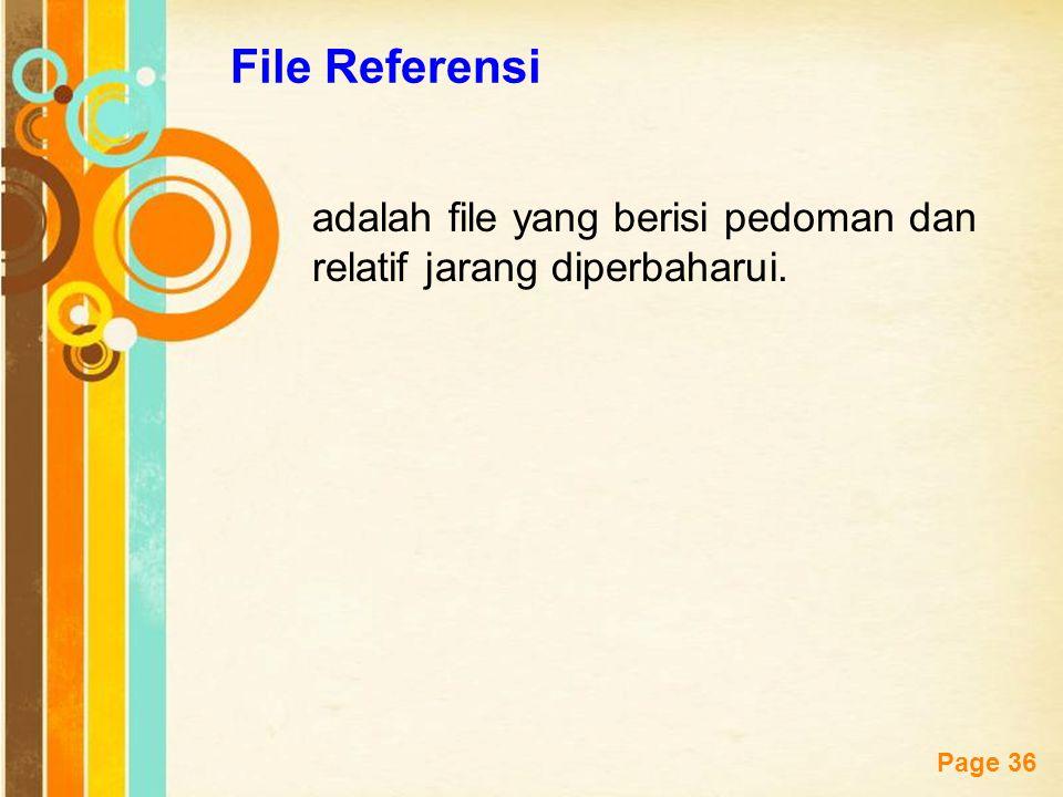 Free Powerpoint Templates Page 36 File Referensi adalah file yang berisi pedoman dan relatif jarang diperbaharui.