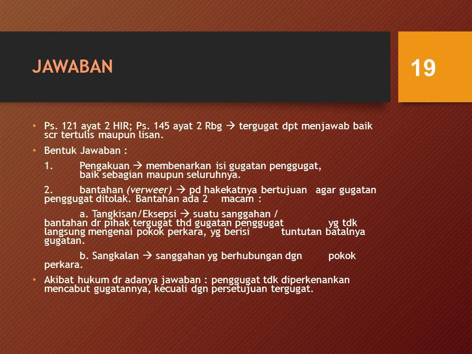 JAWABAN Ps.121 ayat 2 HIR; Ps.