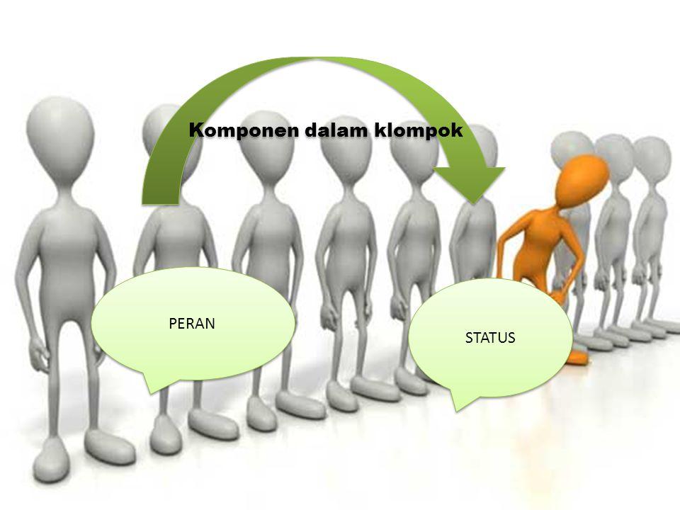 Komponen dalam klompok PERAN STATUS