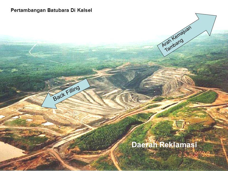 Arah Kemajuan Tambang Daerah Reklamasi Back Filling Pertambangan Batubara Di Kalsel