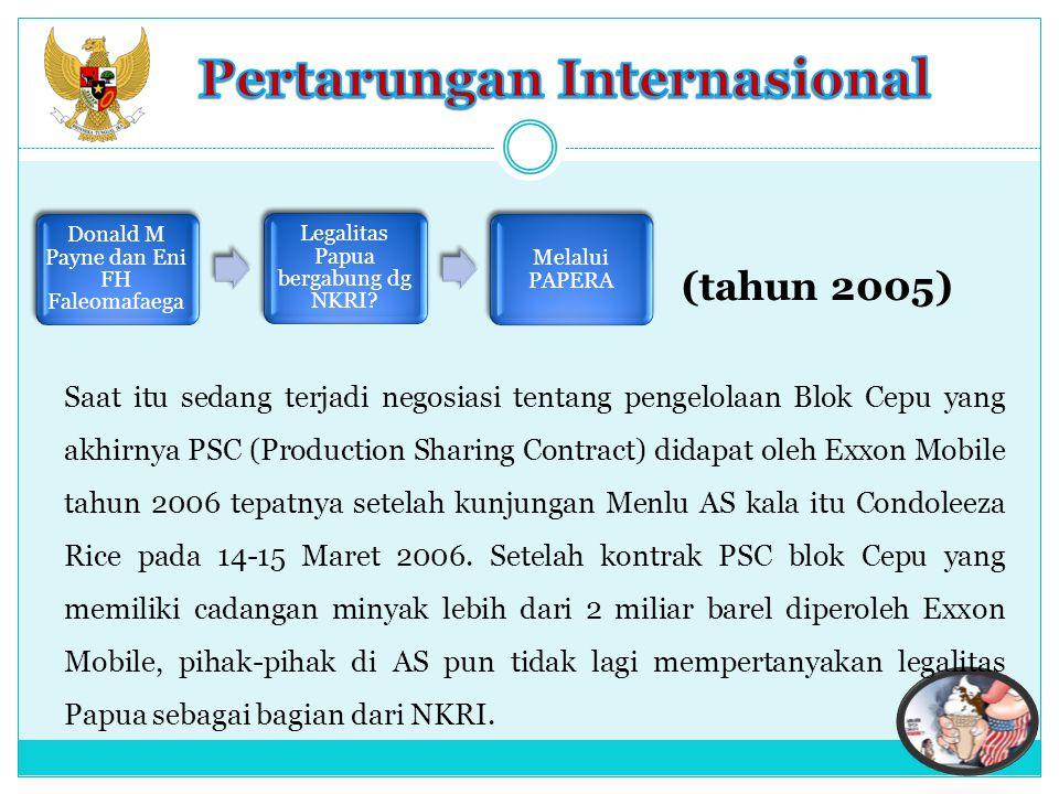 Indonesia adalah penyumbang terbesar bagi Freeport Mc Moran Luas konsesi 1,9 juta ha (Grasberg) dan 100 Km2 (Ertsberg).