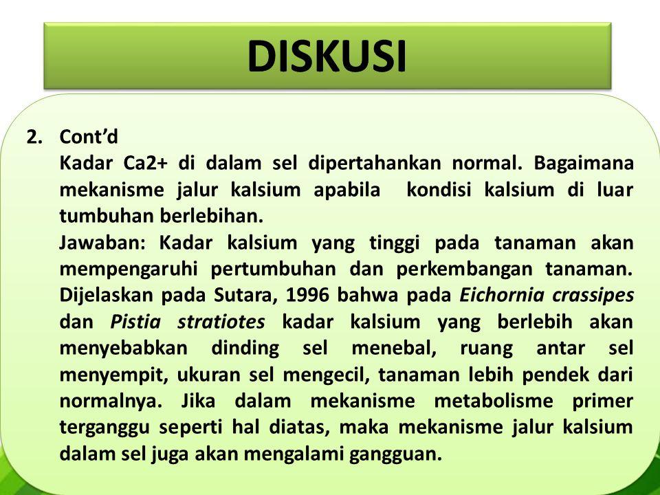 2.Cont'd Kadar Ca2+ di dalam sel dipertahankan normal.
