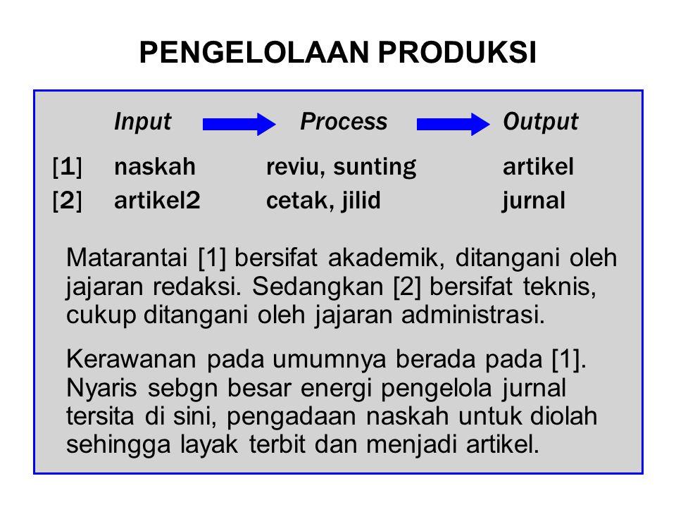 PENGELOLAAN PRODUKSI Matarantai [1] bersifat akademik, ditangani oleh jajaran redaksi.