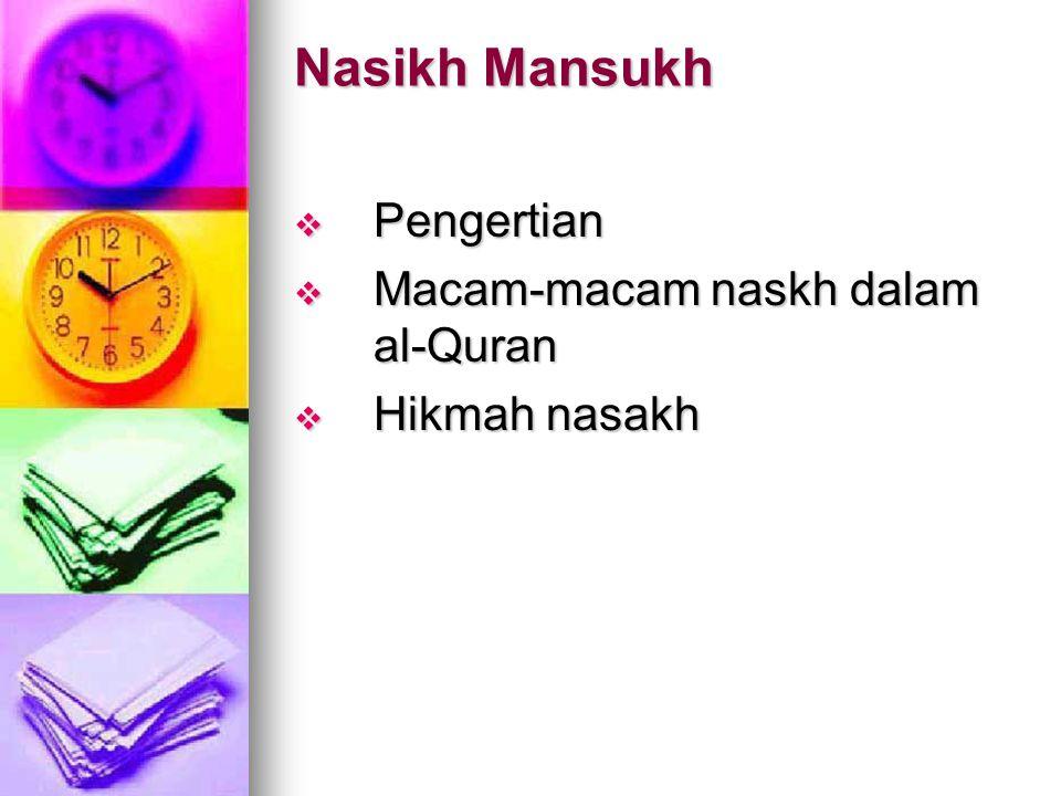 Makki dan Madani  Pengertian  Faedah mengetahui MM  Karakteristik masing-masing