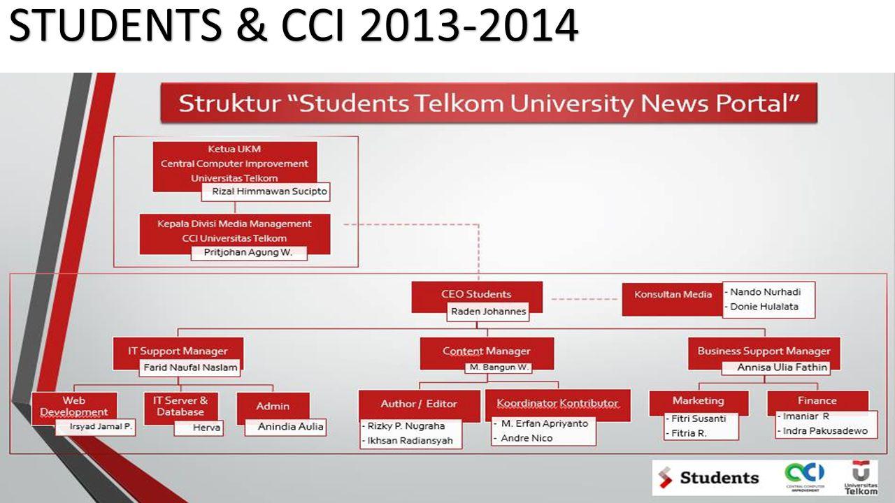 TERIMA KASIH! FOLLOW: @CCI_UNITEL (CCI TELKOM UNIVERSITY) @STUDENTSUNITEL NEWSPORTAL
