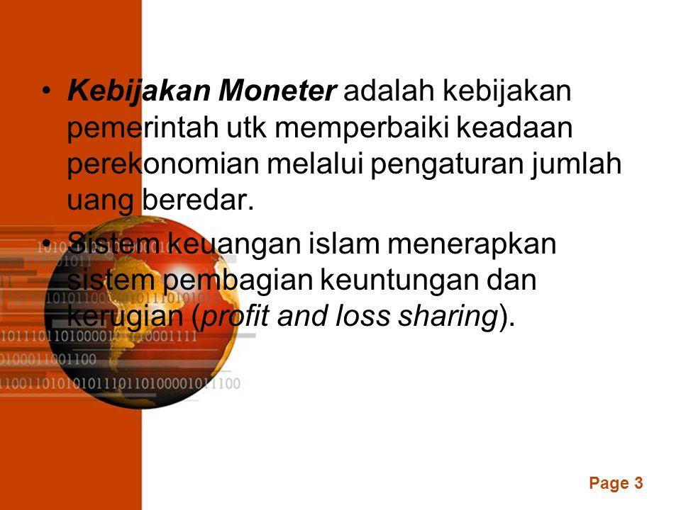 Page 2 DEFINISI Moneter dalam banyak buku teks tentang ekonomi moneter didefinisikan sebagai uang, berasal dari bahasa latin moneta yang berarti uang.