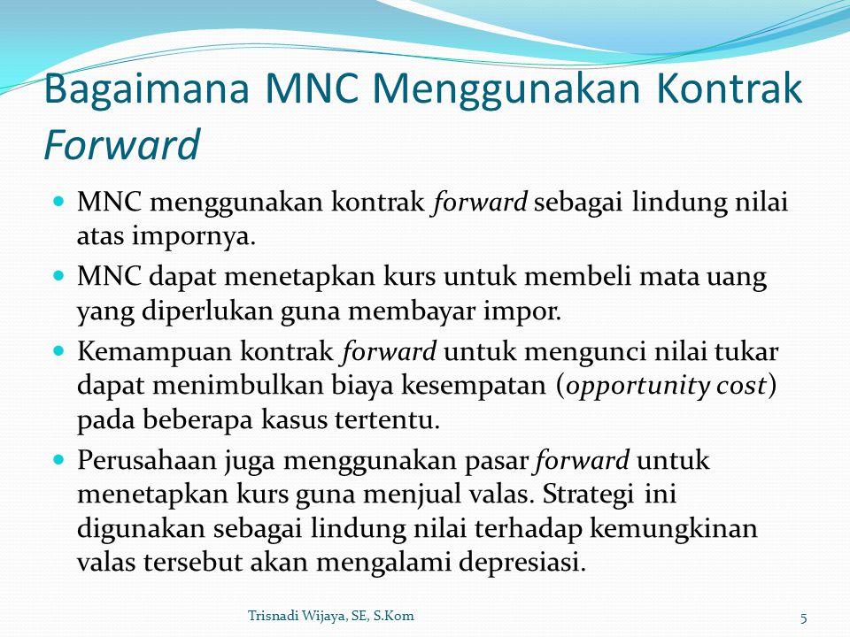 Bagaimana MNC Menggunakan Kontrak Forward MNC menggunakan kontrak forward sebagai lindung nilai atas impornya.