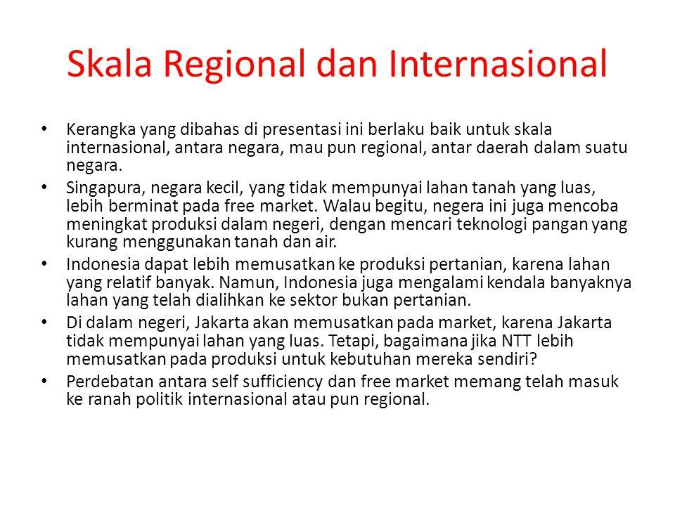 Skala Regional dan Internasional Kerangka yang dibahas di presentasi ini berlaku baik untuk skala internasional, antara negara, mau pun regional, antar daerah dalam suatu negara.