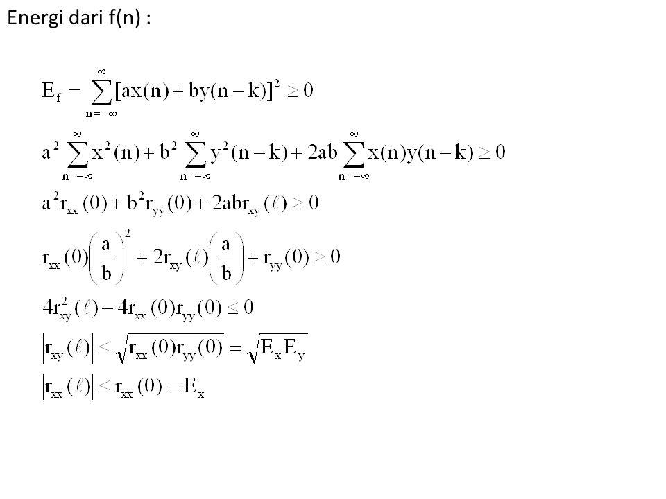 Energi dari f(n) :