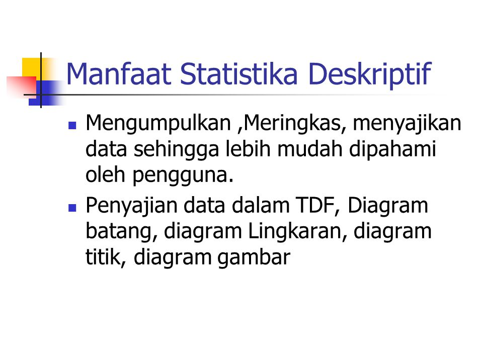 Pemanfaatan Ukuran Pemusatan dan Ukuran Persebaran Untuk mengetahui karakteristik suatu data.