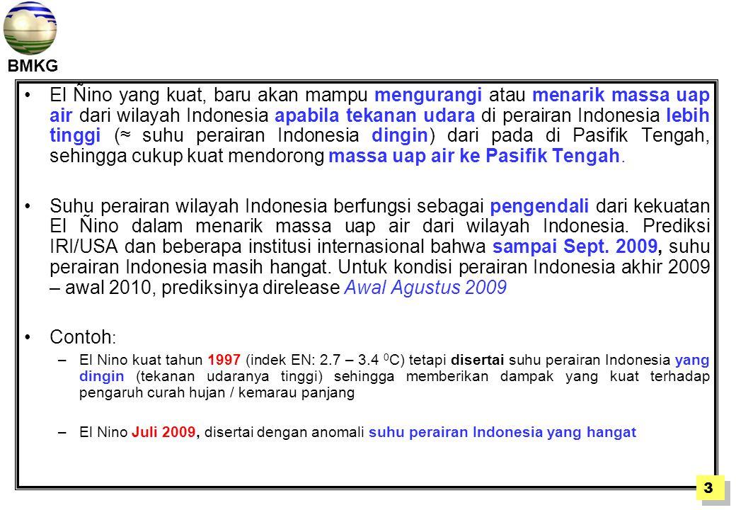 BMKG Gambar: Anomali Suhu Perairan Indonesia dan Pasifik saat El Ñino Kuat Sept.