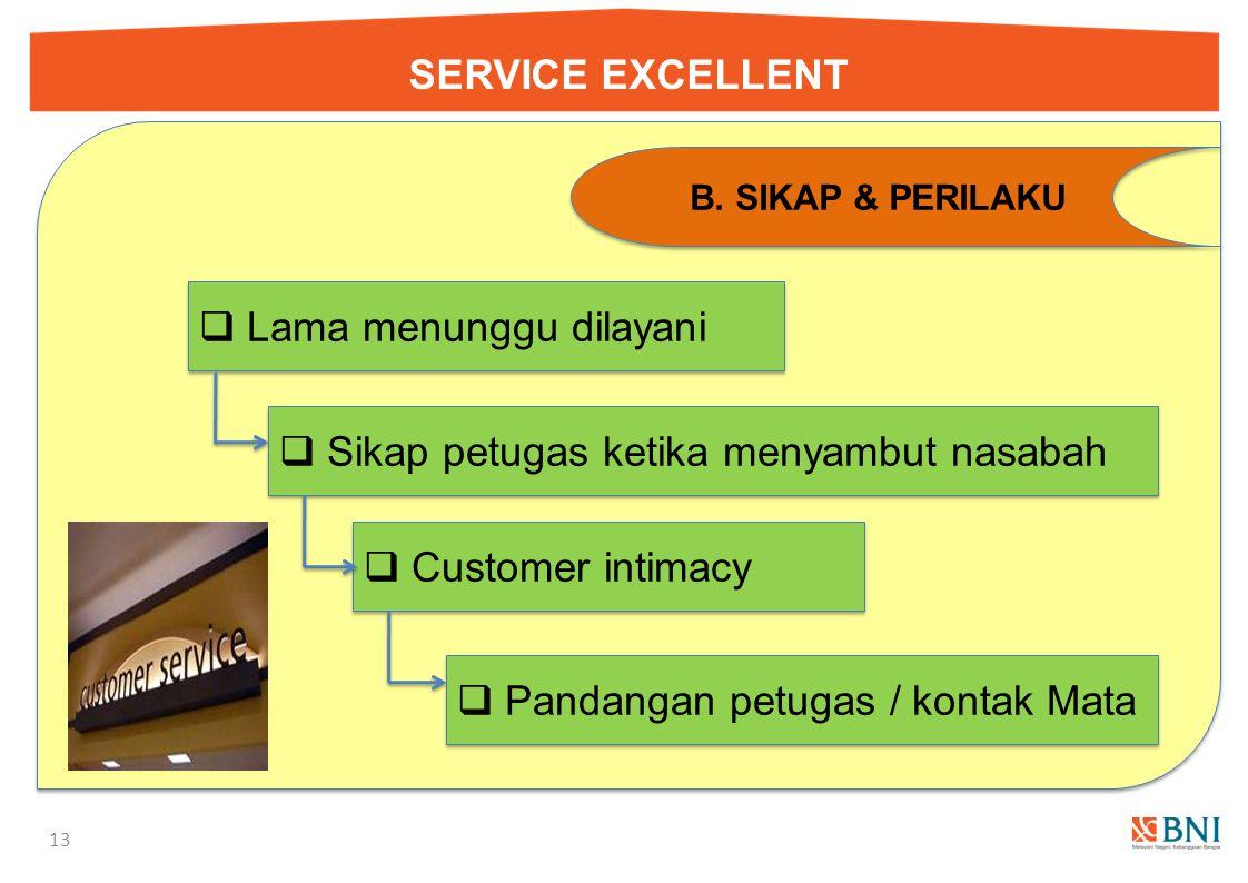 SERVICE EXCELLENT 12 A.PENAMPILAN IKAT PINGGANG  Pergunakan ikat pinggang dari bahan kulit, dengan model formil  Jangan menggunakan ikat pinggang ka