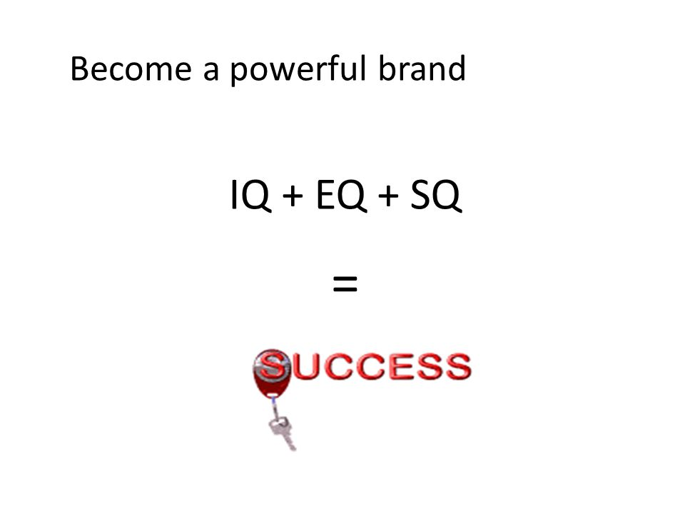 Become a powerful brand IQ + EQ + SQ =
