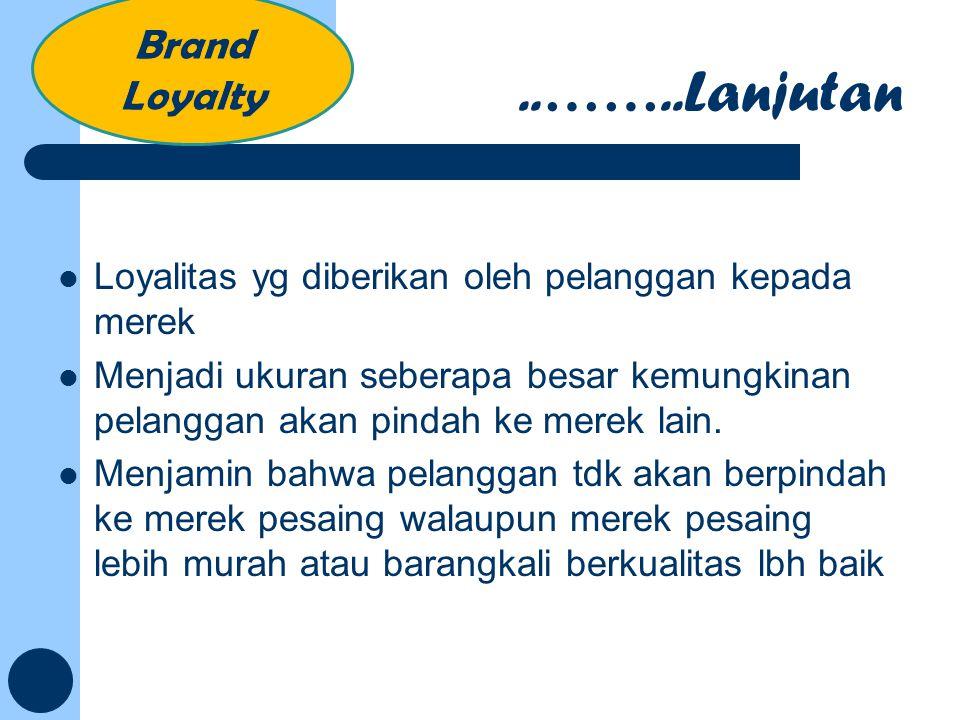 Loyalitas yg diberikan oleh pelanggan kepada merek Menjadi ukuran seberapa besar kemungkinan pelanggan akan pindah ke merek lain. Menjamin bahwa pelan