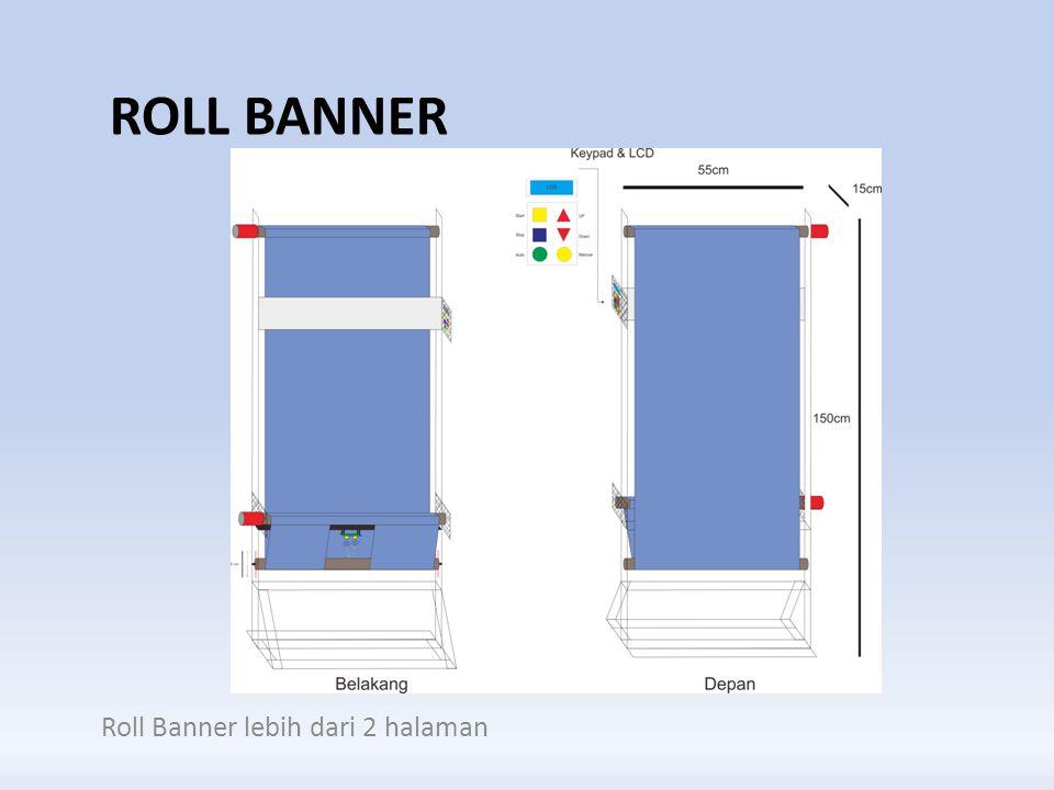 RUMUSAN MASALAH Bagaimana cara menempatan halaman pada roll banner lebih dari 2 halaman.