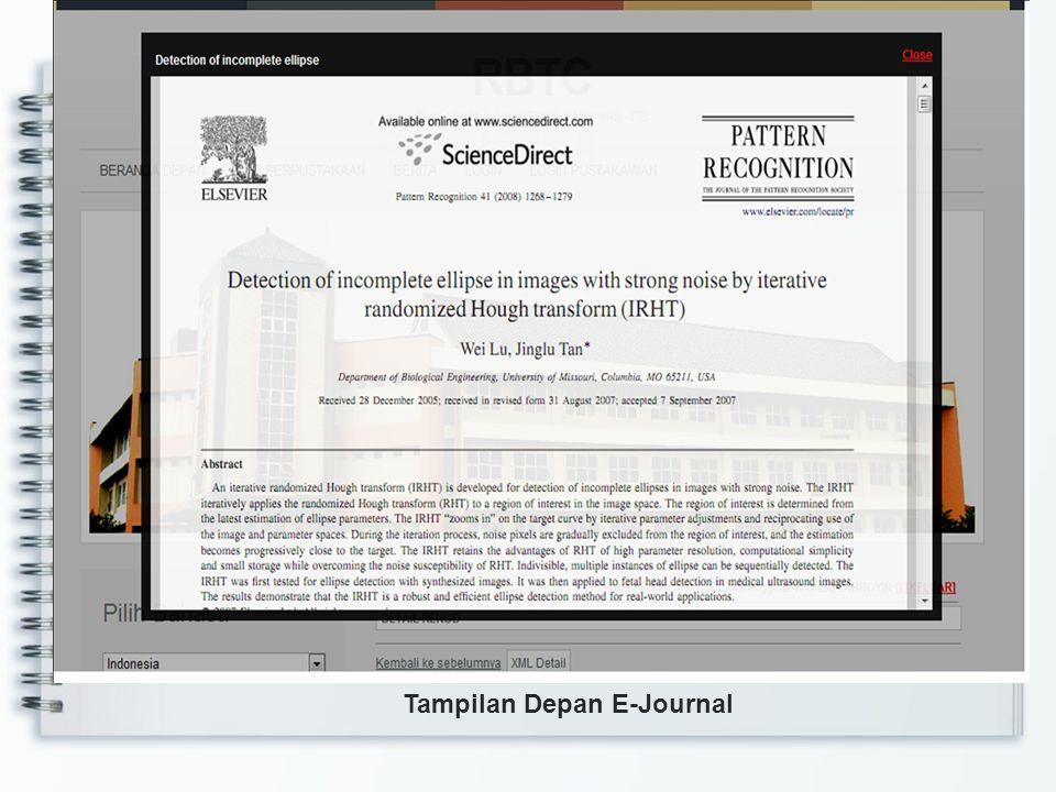 Tampilan Depan E-Journal