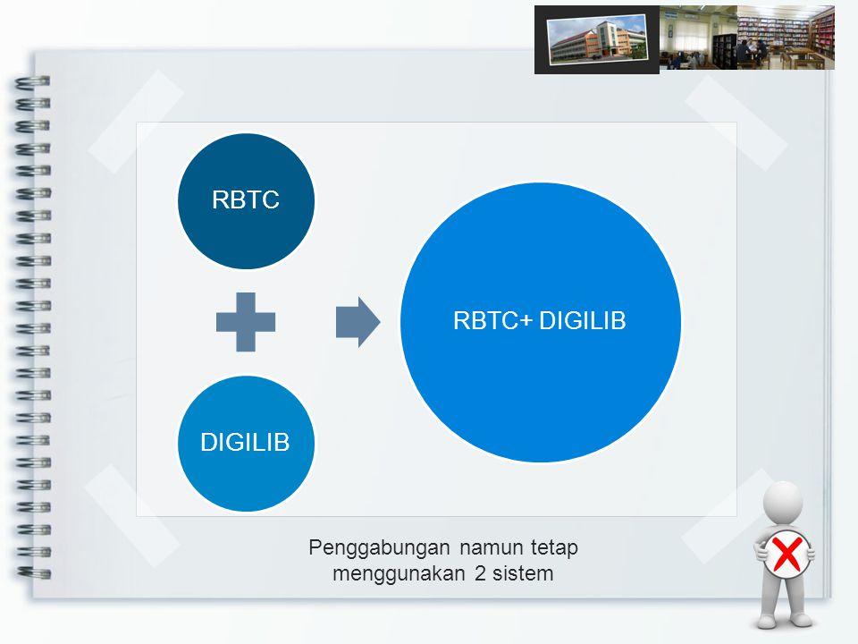 Penggabungan namun tetap menggunakan 2 sistem RBTCDIGILIB RBTC+ DIGILIB