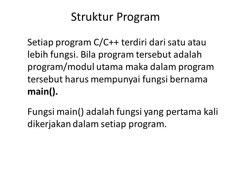 Contoh Program #include class motor { public; char merk[50]; char jenis[50]; double harga; int stok; }; motor sport; void main() { strcpy(sport.merk, Honda CB1100SF XII ); strcpy(sport.jenis, HONDA ); sport.harga=67800000; sport.stok=150; cout<< Merk Motor sport : <<sport.merk<<endl; cout<< Jenis Motor : <<sport.jenis<<endl; cout<<setiosflags(ios::fixed); cout<< Harga Motor : ; cout<<setprecsion(0)<<sport.harga<<enl; cout<< Stok Motor : <<sport.stok<<endl; getche(); }