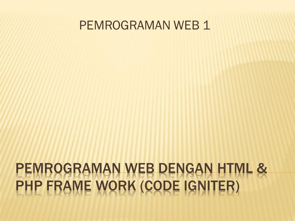 PEMROGRAMAN WEB 1