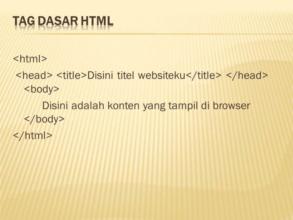 Disini titel websiteku Disini adalah konten yang tampil di browser