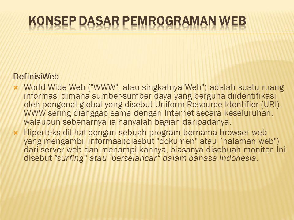 DefinisiWeb  World Wide Web (