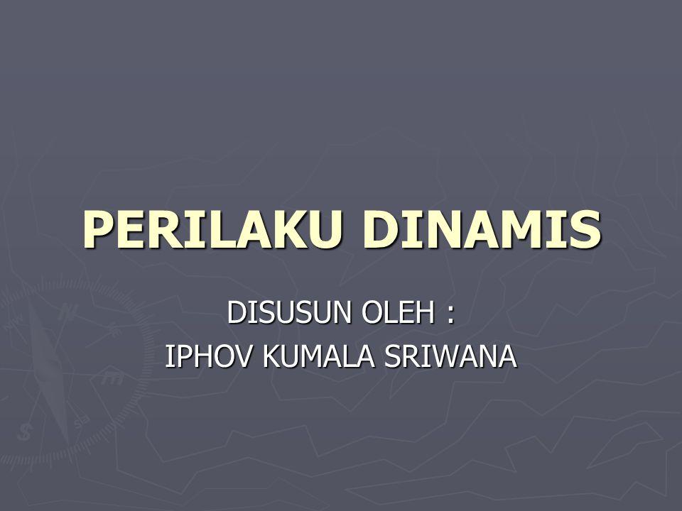 PERILAKU DINAMIS DISUSUN OLEH : IPHOV KUMALA SRIWANA