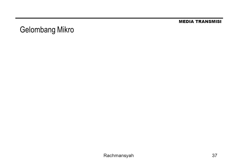 MEDIA TRANSMISI Rachmansyah37 Gelombang Mikro