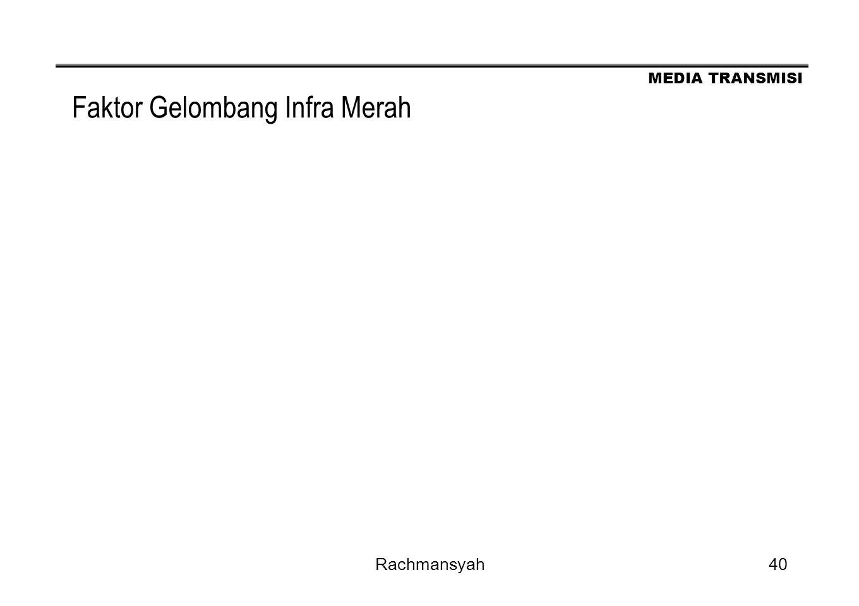 MEDIA TRANSMISI Rachmansyah40 Faktor Gelombang Infra Merah