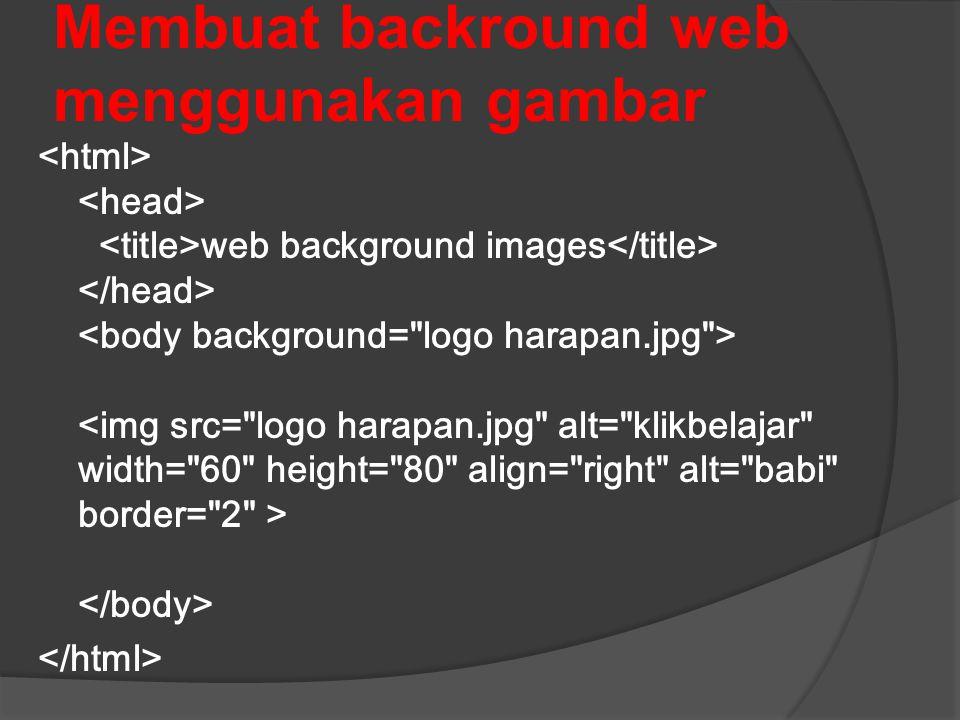 Membuat backround web menggunakan gambar web background images