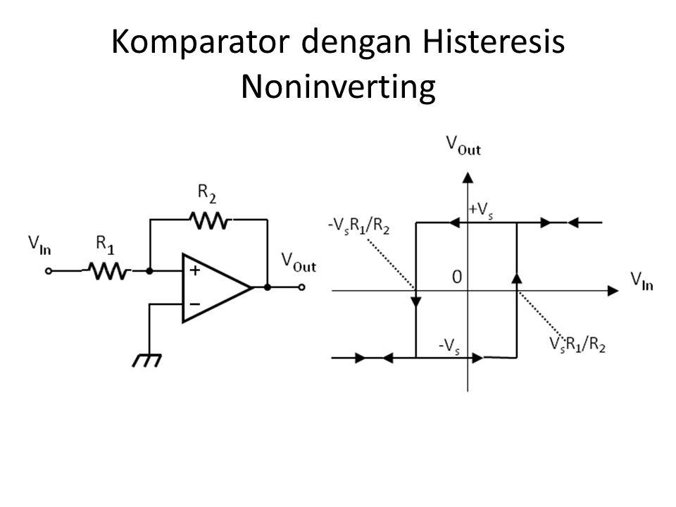 Komparator dengan Histeresis Inverting