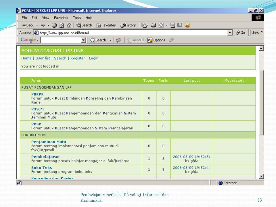 Pembelajaran berbasis Teknologi Informasi dan Komunikasi13