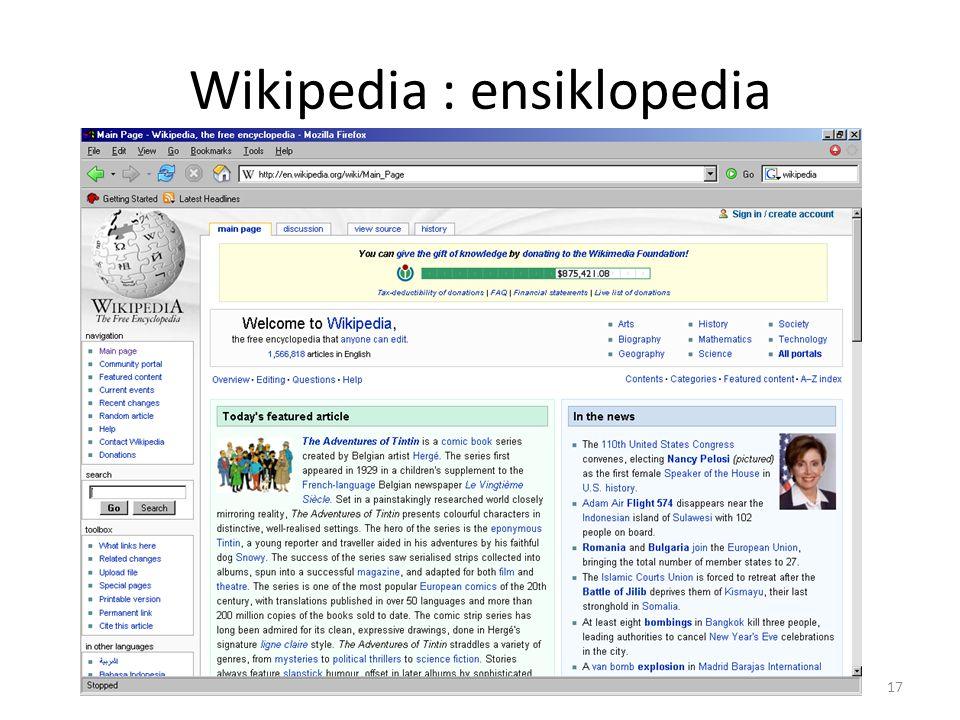 Wikipedia : ensiklopedia 17