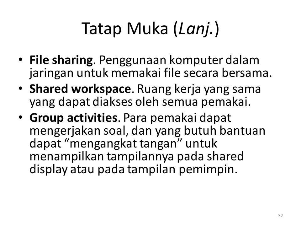 Tatap Muka (Lanj.) File sharing.