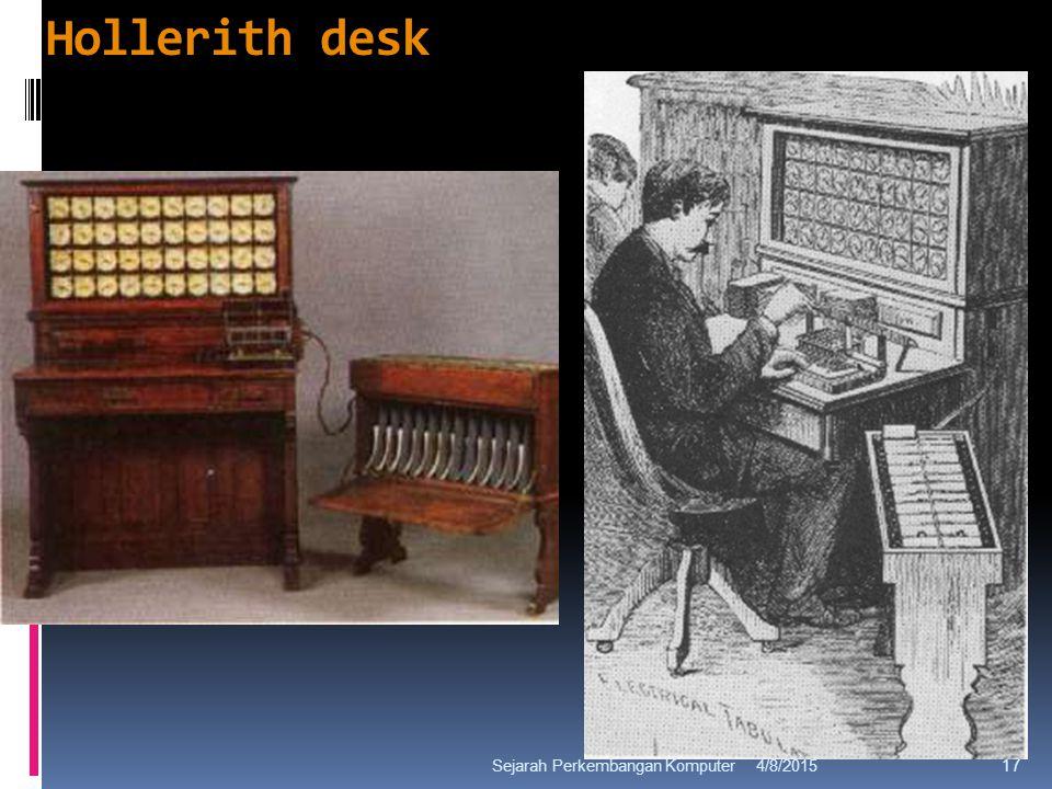 Hollerith desk 4/8/2015Sejarah Perkembangan Komputer 17