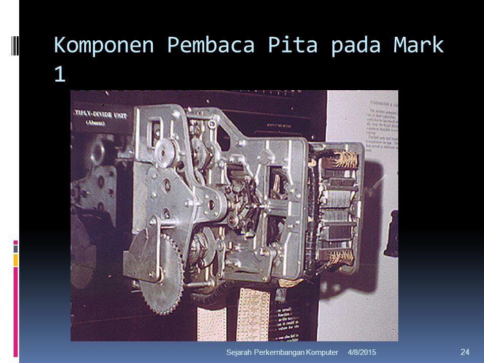 Komponen Pembaca Pita pada Mark 1 4/8/2015Sejarah Perkembangan Komputer 24