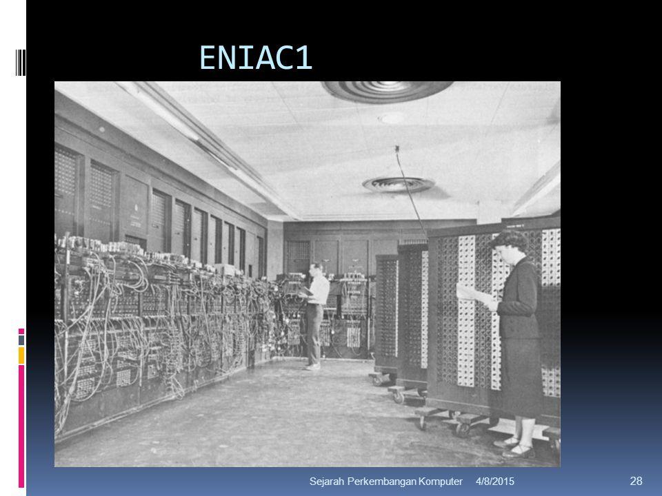 ENIAC1 4/8/2015Sejarah Perkembangan Komputer 28