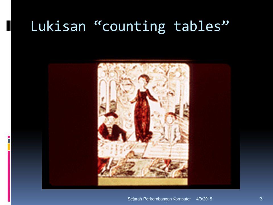Lukisan counting tables 4/8/2015Sejarah Perkembangan Komputer 3