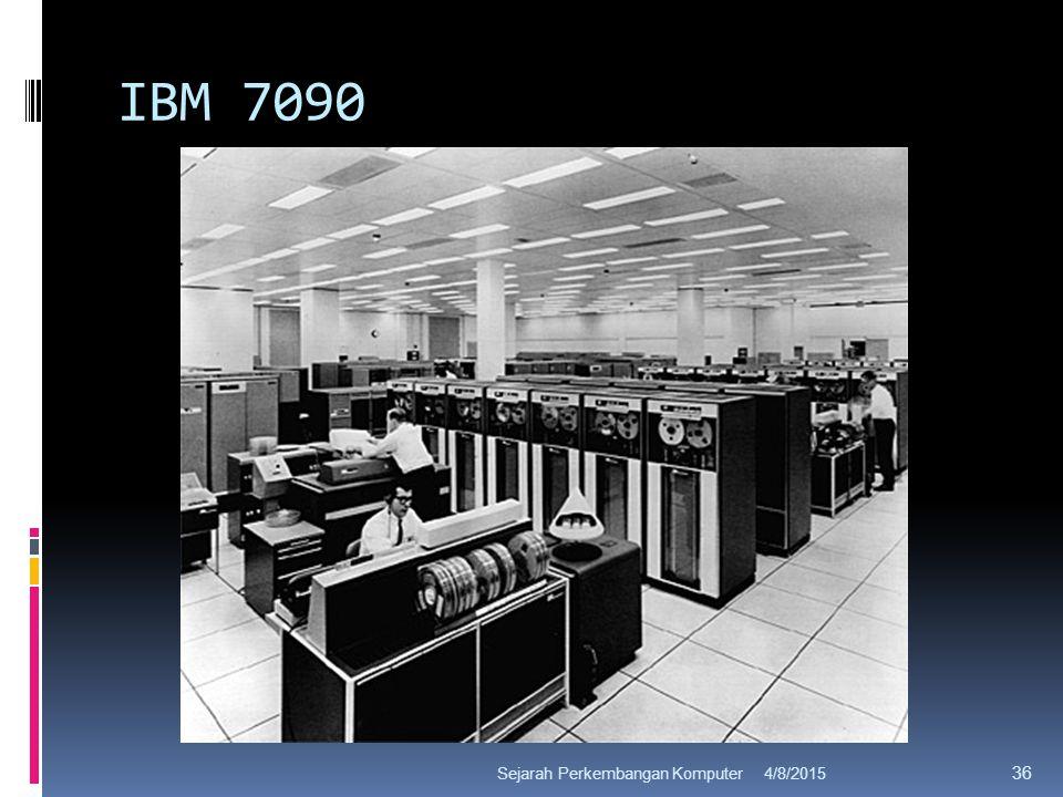IBM 7090 4/8/2015Sejarah Perkembangan Komputer 36